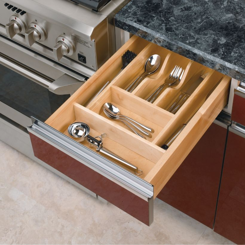 4WCT Series Wood Cutlery Tray Insert
