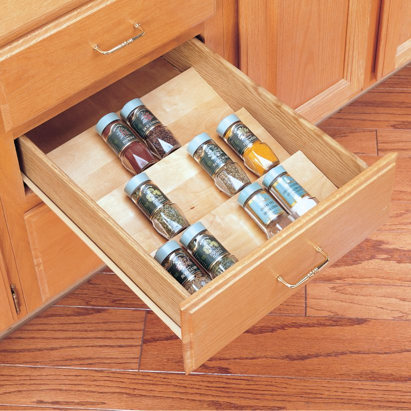 4SDI Series Wood Spice Drawer Insert