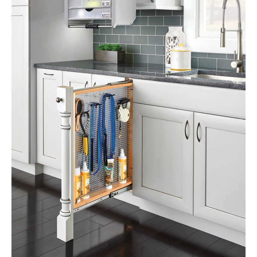 434 Series Soft-Close Base Cabinet Filler with Stainless Steel Panel & Ball-Bearing Soft-Close