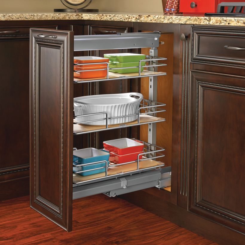 5225-MP Series Soft-Close Chrome Pull-Out Pantry