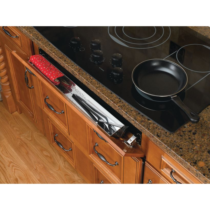 6581 Series Stainless Steel Sink Front Tip-Out Tray With Hinges