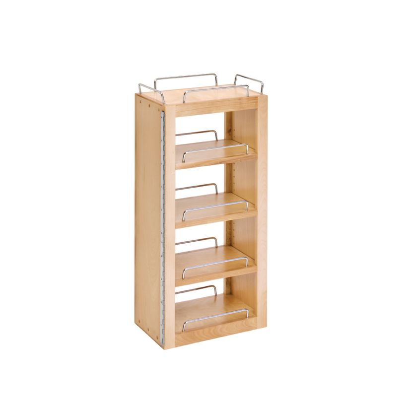 """4W Series Swing-Out Wood Pantry System - 25"""" Single Pantry with Hardware"""