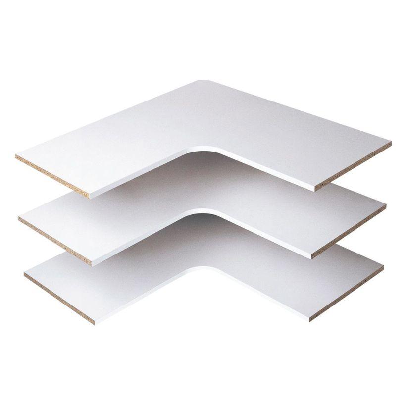 Easy Track Corner Shelves (3 pack)