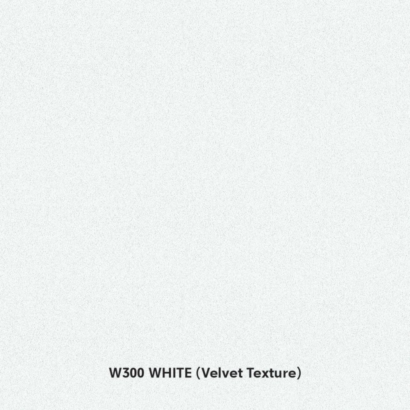 Arauco Prism W300 White Thermally Fused Laminate - Particleboard Core G2S - Velvet Texture
