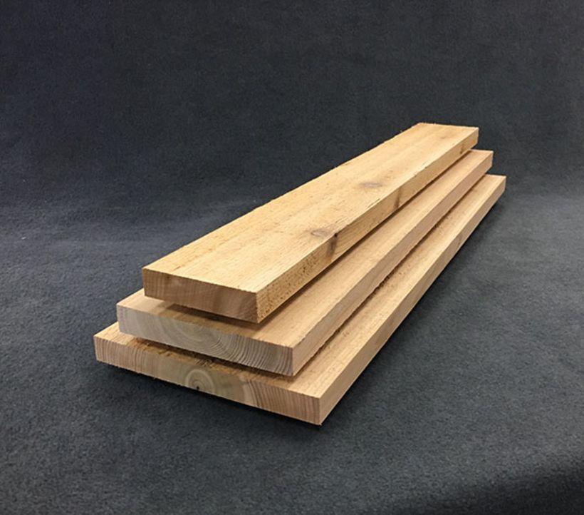 1 x 6 Electric Blue Select Tight-Knot, Kiln-Dried Cedar - S1S2E