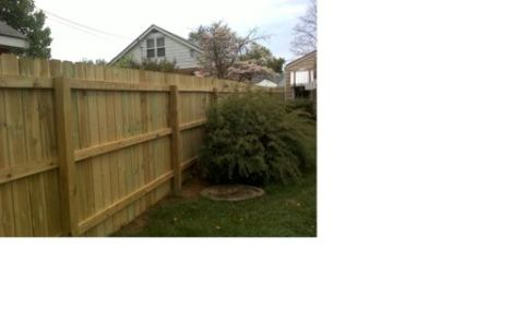 1 x 6 Treated Dog Eared Fence Boards