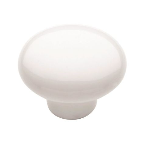 "Allison™ Value 1-1/4"" (32 mm) Diameter White Knob"
