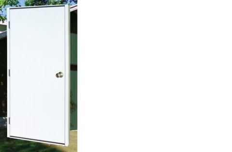 Plyco #20PWST Door with Insulated Jambs and Half Lite - Right Hand Inswing