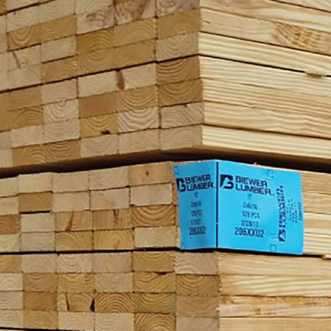 2 x 12 Grade #2 Southern Yellow Pine Treated Boards - Ground Contact