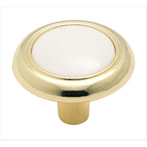 """Allison™ Value 1-1/4"""" (32 mm) Diameter Knob - White Center"""