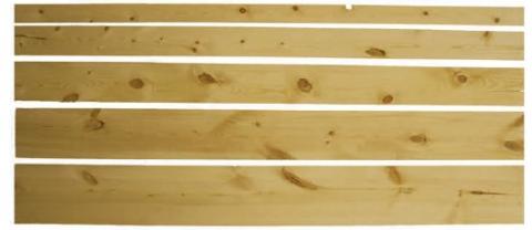1x4 #3 Ponderosa Pine Kiln Dried S4S Boards