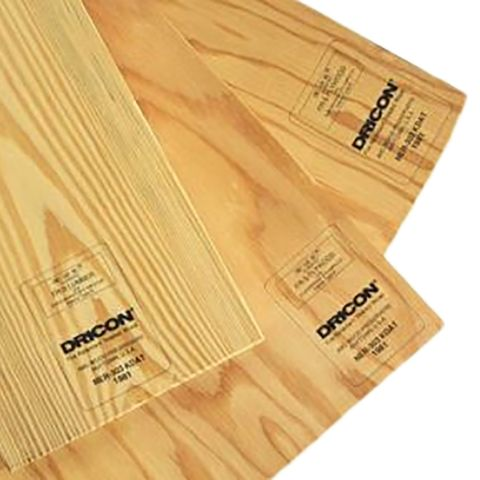Dricon Fire Retardant Treated Wood - 4 x 8 x 3/4""