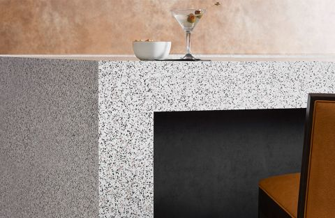 Formica Dalmata Terrazzo Matrix 412 Everform Solid Surface