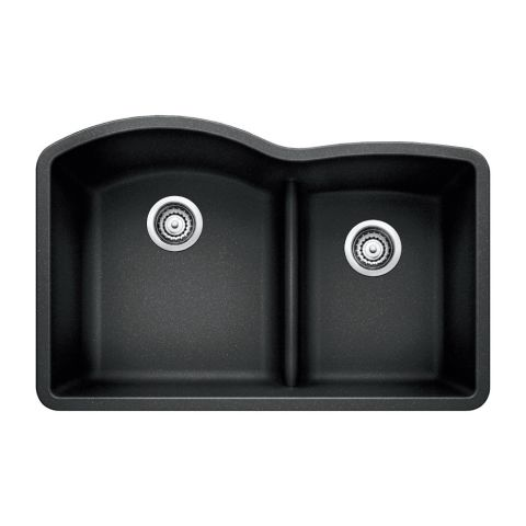 Blanco SILGRANIT II DIAMOND 1-3/4 in Bowl Sink with Low-Divide