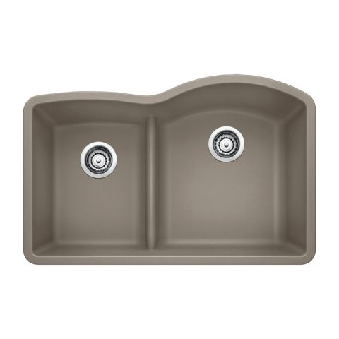 Blanco SILGRANIT II DIAMOND 1-3/4 in Reverse Bowl Sink with Low Divide