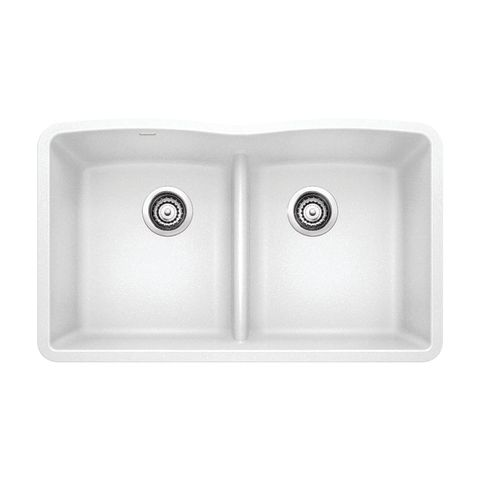 Blanco SILGRANIT DIAMOND Equal Double Bowl Sink with Low-Divide