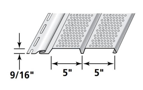 """Ironmax Double 5"""" Fully Vented Soffit & Vertical Siding"""