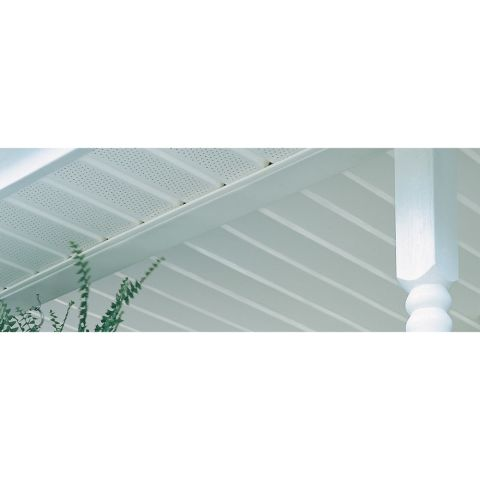 "Ironmax Double 5"" Fully Vented Soffit & Vertical Siding"
