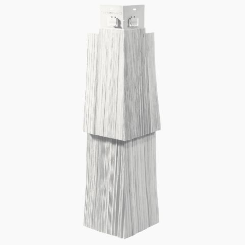 "Cedar Impressions Double 9"" Staggered Rough-Split Cornerpost"