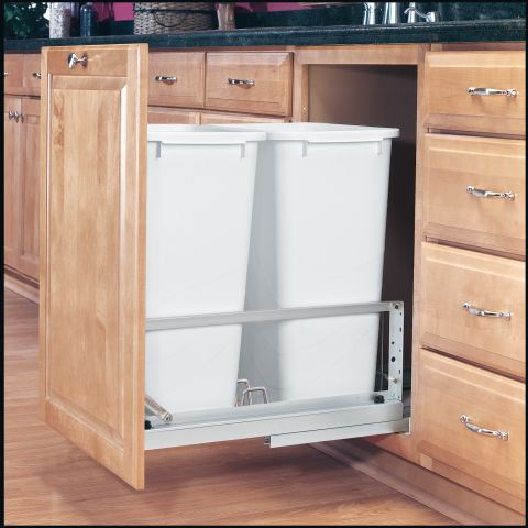 5349 Series Double Pullout Waste Container