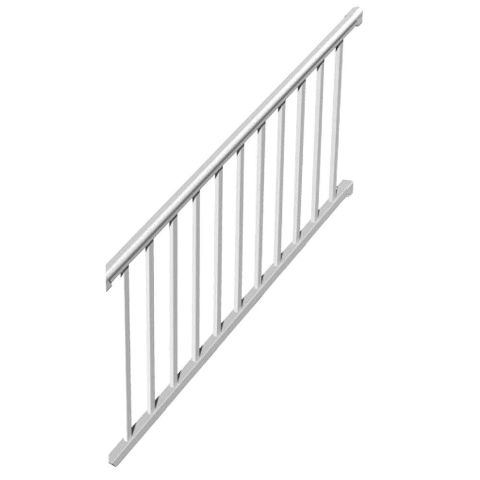 RDI Titan Pro White Bottom Stair Rail
