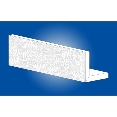 Palight ProFinish™ Profiles Trimboard Corner - Woodgrain