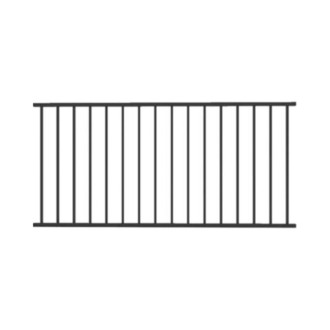 Metal Works® Excalibur®  Level Rail Panel with Square Balusters - 36 in or 38 in Finished Rail Height
