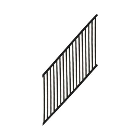 Metal Works® Excalibur®  Stair Rail Panel with Square Balusters
