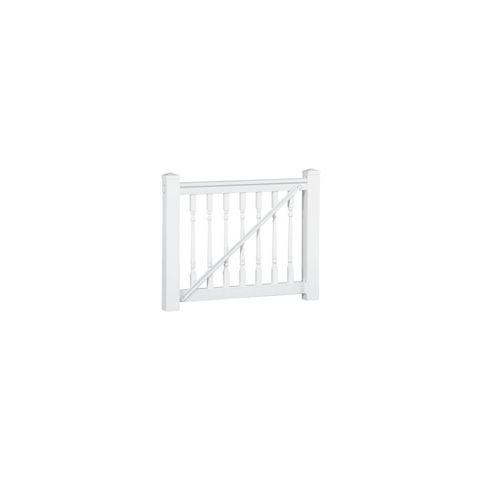 Crossover Standard Width Gate Kit with 1-1/4 in Turned Balusters - 36 in Height