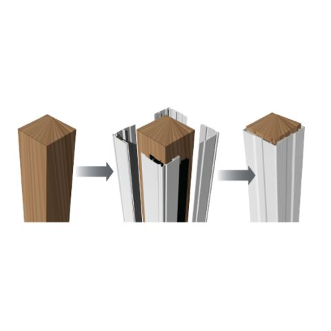 "RDI Crossover 4-piece Flat Post Wrap - 6"" x 6"""