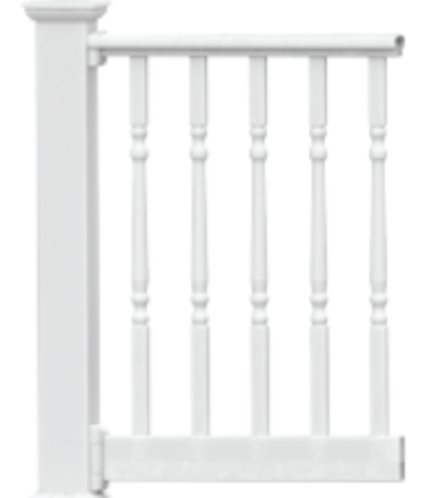 Endurance Original Rail 32 - 38 deg Stair Rail Kit with 1-1/4 in Turned Aluminum Balusters - 36 in Height