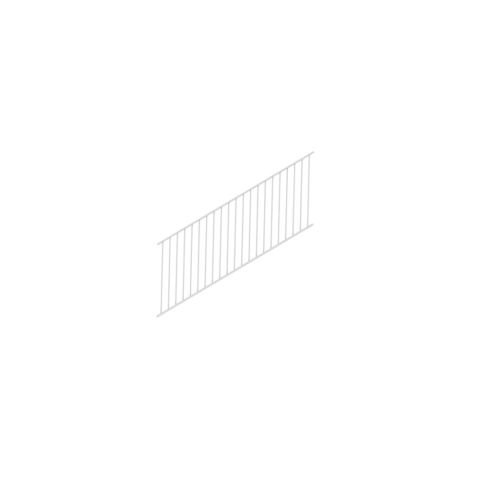 "RDI AVALON Stair Railing Panel With Square Balusters - 36"" Rail Height"