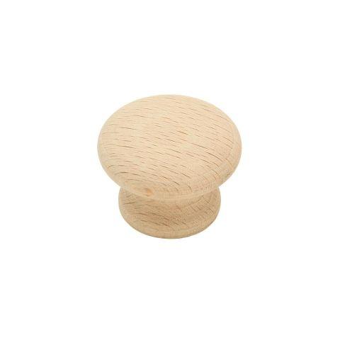 "Allison™ Value 1-1/4"" (32 mm) Diameter Wood Knob - 7/8"" Projection"