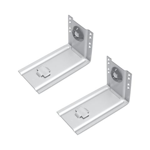 Accuride Slotted Rear Face Frame Bracket Kit, Clear Zinc