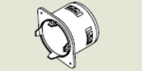 Form-A-Drain Snap-In Outet Adapter