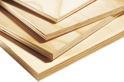 "AraucoPly AC Grade Radiata Pine Sanded Plywood FSC 7 Ply - 23/32""(18mm) 4x8"