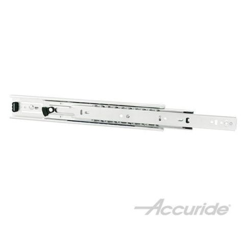 Accuride 3832EDO 100 lb Light-Duty, Detent Out, Full Extension Slide, Clear Zinc