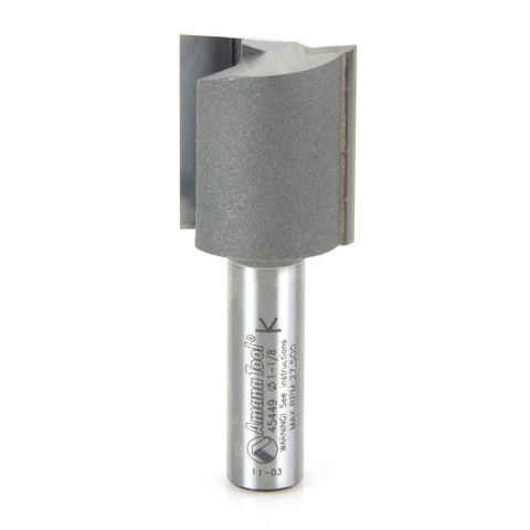 Amana Tool 1/2 in Shank 2 Flute Carbide High Production Straight Plunge Router Bit, 1-1/8 in x 2-7/8 in