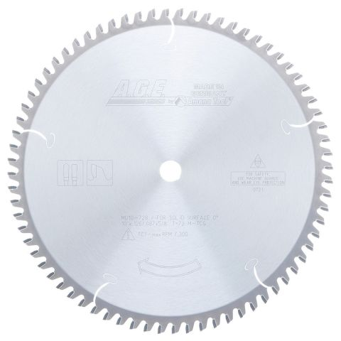 Amana Tool A.G.E. Saw Blades Solid Surface Circular Saw Blade, 10 in x 72T