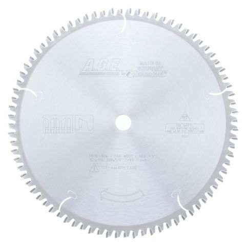 Amana Tool A.G.E. Saw Blades Heavy-Duty Miter/Double Miter Saw Blade, 10 in x 80T