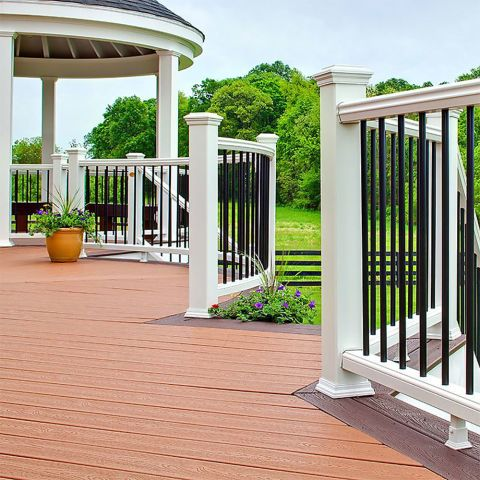 Transcend Baluster Spacer for Round Aluminum Balusters - Horizontal Rail