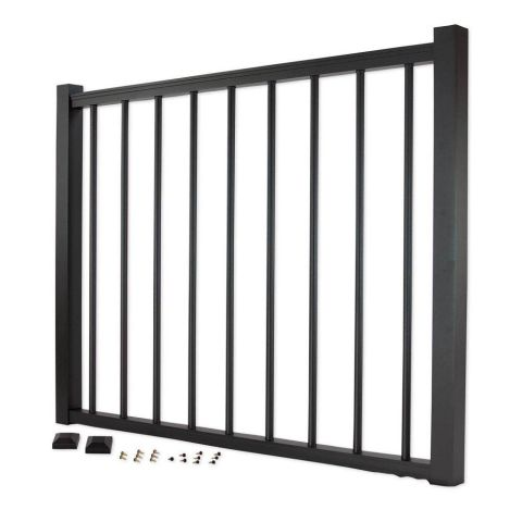 Trex Aluminum Gate with Round Balusters - 42 inch