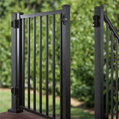 """Trex Aluminum Gate with Square Balusters - 42"""""""