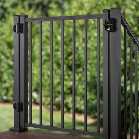 Trex Aluminum Gate with Square Balusters - 42 inch