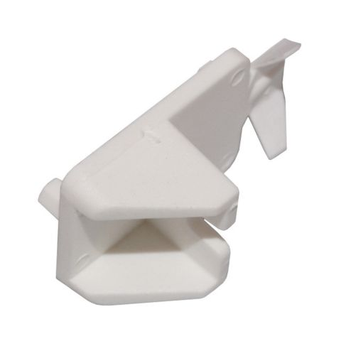 Bainbridge Manufacturing 3/4 in Locking Shelf Support, 5 mm, White