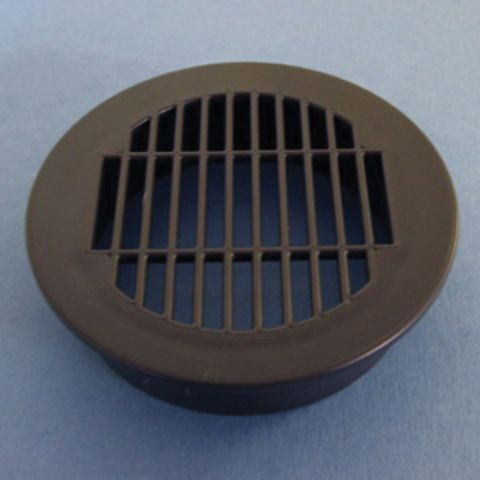 Bainbridge Manufacturing Round Vent Grill, 2-1/2 in