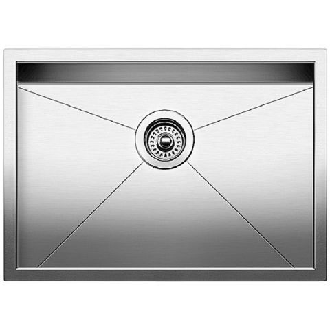 Blanco QUATRUS R0 Medium Single Bowl Sink, Satin