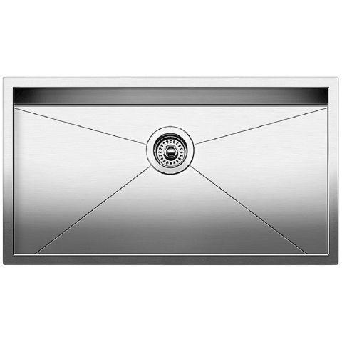 Blanco QUATRUS R0 Super Single Bowl Sink, Satin