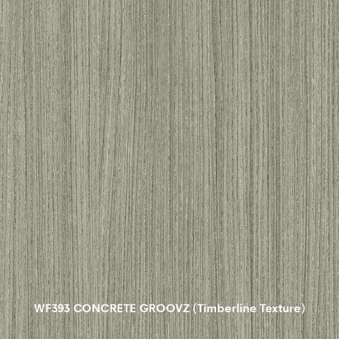Arauco Prism WF393 Concrete Groovz Thermally Fused Laminate - Particleboard Core G2S - Timberline Texture