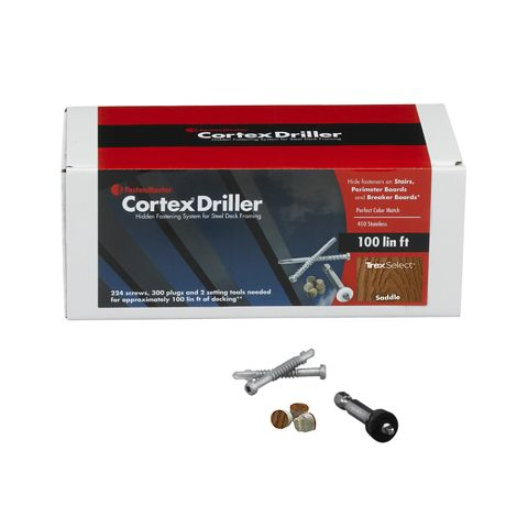 Cortex Driller Fastening System for Trex Select Decking - 100 Linear Feet
